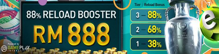 88% reload bonus- w88